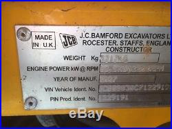 07 JCB 8030ZTS MINI EXCAVATOR PUSH BLADE 3RD VALVE 1935 HRS ENCLOSED CAB W A/C