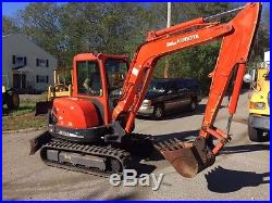 08 Kubota Kx 121-3 Mini Excavator Heat A/c Aux Hyd 42 HP Angle Push Blade