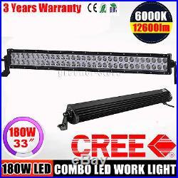 180W Cree LED Work Light Lamp Bar Flood Spot Beam Jeep Tractor Truck 12v 24v CE