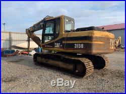 1997 Caterpillar 315B Hydraulic Excavator with Cab NO BUCKET READ DESCRIPTION