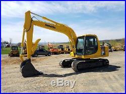 1997 Komatsu PC120-6 Excavator Cab Diesel Tracked Hoe Machine Geith Thumb Bucket