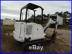 1998 Bobcat 325 Mini Excavator in Mississippi NO RESERVE hole in engine block