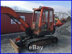 1998 Kubota KX161-2 Mini Excavator With Cab NEEDS WORK READ DESCRIPTION