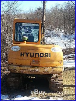1999 Hyundai Robex 55-3 Hydraulic Excavator Thumb Blade Cab NO RESERVE