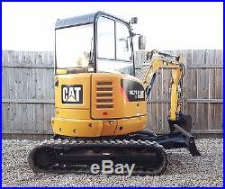1 Owner 2013 Caterpillar 302.7D CR Mini Track Excavator Cab Heat CAT Backhoe