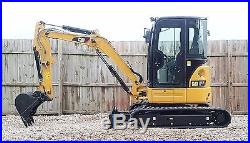 1 Owner 2013 Caterpillar 303.5E CR Mini Track Excavator CAB HEAT AIR AUX HYD CAT