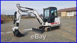 2000 Bobcat 331E Mini Excavator Track Hoe Blade Cab Extenda Hoe