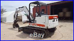 2000 Bobcat 337 Mini Excavator Tracked Hoe Hydraulic Thumb Blade Kubota Diesel