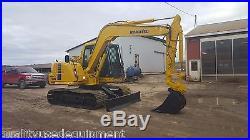 2000 Komatsu PC60MR-7 Midi Hydraulic Excavator Coupler Tracked Hoe Plumbed Blade