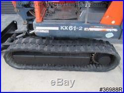 2000 Kubota Kx61-2 1.5 Diesel Mini Excavator Dozer Blade Work Lights