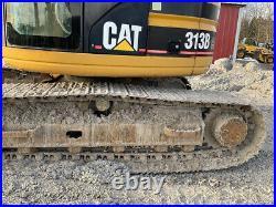 2001 Caterpillar 313B CR Hydraulic Excavator with Cab Blade & Thumb