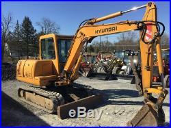 2001 Hyundai Robex 55-3 Midi Hydraulic Excavator with Cab & Hydraulic Thumb