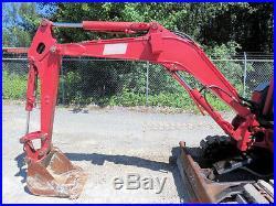 2001 Kobelco SK25SR-2 Mini Excavator Hyd Steel Swing Boom Diesel Track 58