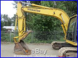 2001 Komatsu PC130-6 Hydraulic Excavator Heated Cab Aux Thumb Tractor bidadoo