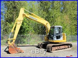 2001 Komatsu PC138US Hydraulic Excavator A/C Cab 32 Bucket EROPS bidadoo