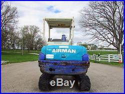 2002 AIRMAN AX35-2 MINI EXCAVATOR / ONLY 2134 HOURS / KUBOTA DIESEL / V G COND