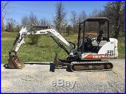 2002 BOBCAT 331D RUBBER TRACKED MINI EXCAVATOR LOW COST SHIPPING RATES