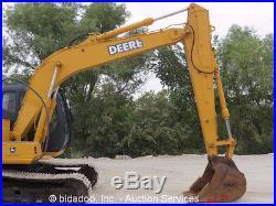 2002 John Deere 120C Hydraulic Excavator 9' 8 Stick Cab A/C Diesel Tractor