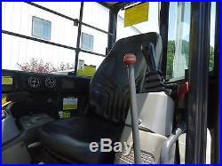 2002 YANMAR 75 EXCAVATOR HYDRAULIC THUMB, BLADE, CAB HEAT A/C SWING BOOM