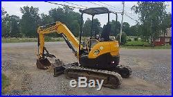 2002 Yanmar VIO35-2 Mini Compact Hydraulic Excavator Tracked Hoe Plumbed Blade
