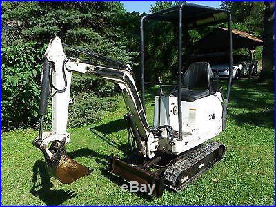 2003 Bobcat 316 mini excavator, 519 hrs