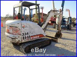 2003 Bobcat 334G Mini Excavator Aux Hyd Dozer Blade Track Hoe bidadoo