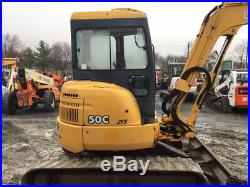 2003 John Deere 50C Hydraulic Mini Excavator with Cab Only 2500 Hours Very Clean