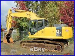 2003 Komatsu PC200LC-7L Hydraulic Excavator Hyd Thumb A/C Cab 2-Buckets Aux Hyd