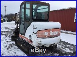 2004 Bobcat 331G Mini Excavator with Cab & Hydraulic Thumb