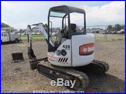 2004 Bobcat 430G ZHS Mini Excavator Rubber Tracks Aux Hyd Kubota Diesel (2) Bkts