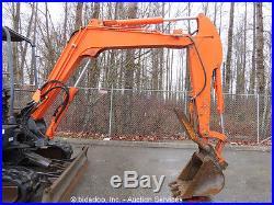 2004 Hitachi ZX50U Hydraulic Mini Excavator Hyd Thumb Manual Q/C Backfill Blade