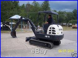 2004 Terex HR-16 Mini Excavator, 1642.8 Hrs, Refurbished 2015, 36 H. P. Non Tier