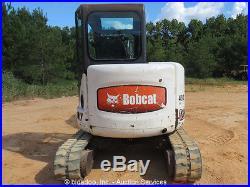 2005 Bobcat 430H Mini Excavator Rubber Tracks Cab Kubota Backhoe Dozer bidadoo