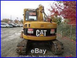 2005 Caterpillar 308C Midi Excavator Heated Cab AC Thumb Mini 2 Buckets bidadoo