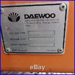 2005 DAEWOO SL255L EXCAVATOR Doosan Nice Low hours