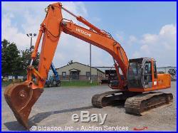 2005 Hitachi ZX200LC Hydraulic Excavator 9' 7 Stick Enclosed Cab Heat A/C Isuzu