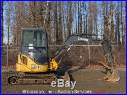 2005 John Deere 35D Mini Excavator Hydraulic Thumb Cab Aux Rubber Tracks