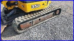 2005 John Deere 35D Mini Excavator Hydraulic Thumb Rubber Track Hoe EROPS Cab AC