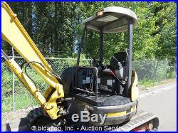 2005 Kobelco SK50SR-3 Mini Hydraulic Excavator Hyd Thumb Aux Blade Yanmar 40Hp