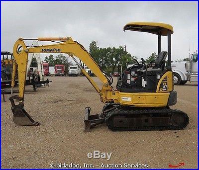 2005 Komatsu PC27 MR-2 Mini Hydraulic Excavator Diesel Zero Tailswing bidadoo