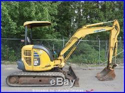 2005 Komatsu PC35MR-2 Mini Excavator Yanmar Diesel 12 Rubber Tracks Aux Hyd