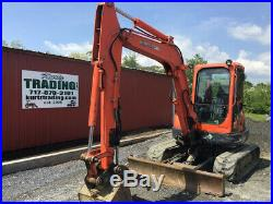 2005 Kubota KX161-3 Mini Excavator Cab Hydraulic Thumb Angle Blade