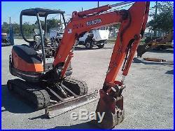 2005 Kubota KX71-3 Mini Excavator Rubber Tracks Backhoe