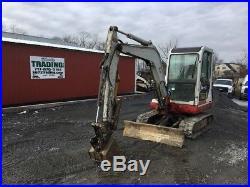 2005 Takeuchi TB135 Mini Excavator with Cab & Hydraulic Thumb
