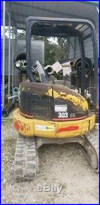 2006 Cat 303cr MINI EXCAVATOR. 7900 lb. Thumb. FLORIDA. CATERPILLAR 1400 hrs