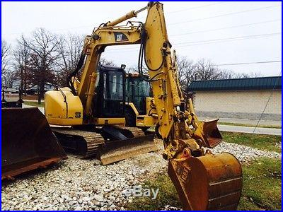 2006 Cat 308C CR cab heat air, plumbed, hyd quick connect, only 2544 hrs