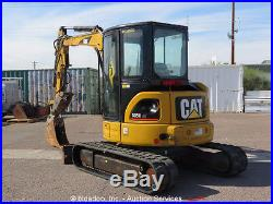 2006 Caterpillar 305C CR Mini Excavator A/C Cab Hydraulic Thumb AUX bidadoo