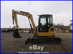 2006 Caterpillar 305C Mini Excavator Rubber Tracks Enclosed Cab Backhoe Aux Hyds