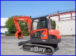 2006 Daewoo 55V Plus Excavator Midi Rubber Tracks AC & Heat backhoe loader