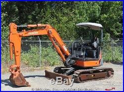2006 Hitachi ZX35U-2 Hydraulic Mini Excavator 24 Bucket Backfill Blade Diesel